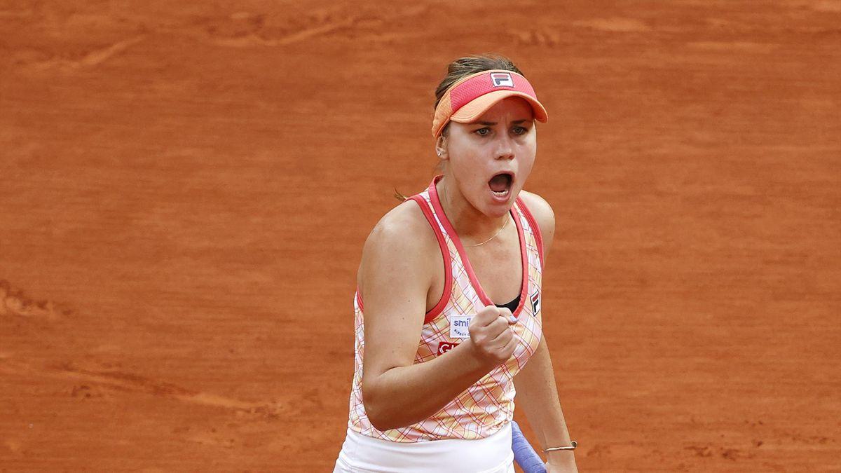 Sofia Kenin lors de sa demi-finale à Roland-Garros 2020