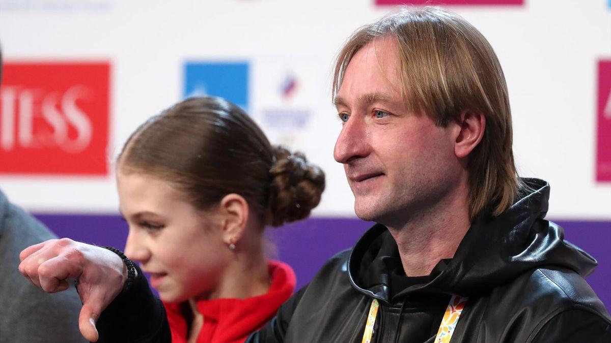 Евгений Плющенко, Александра Трусова, чемпионат России-2021