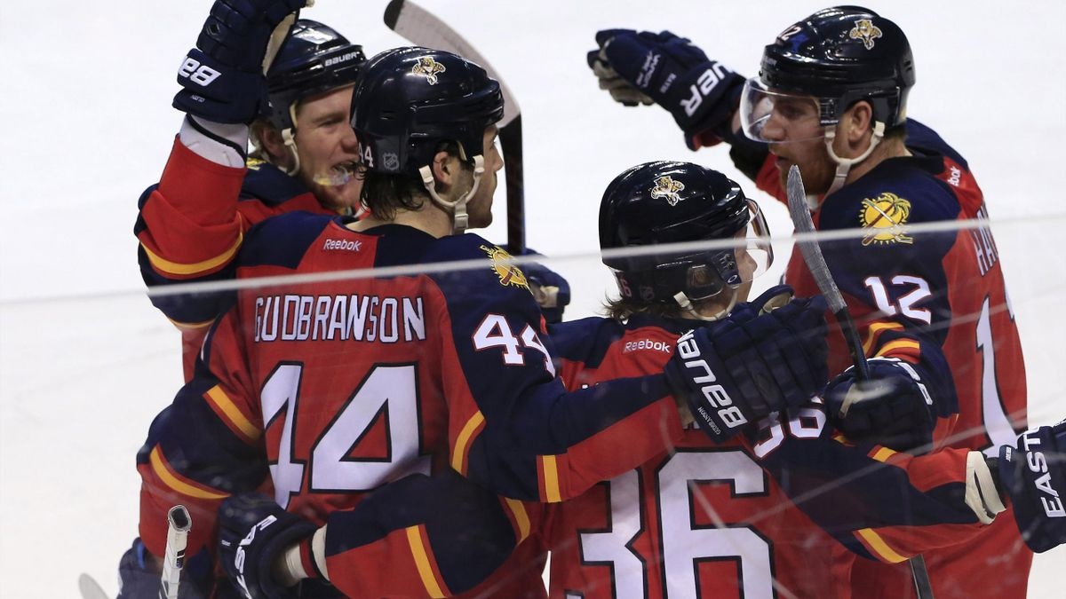 The Florida Panthers celebrate victory (Reuters)