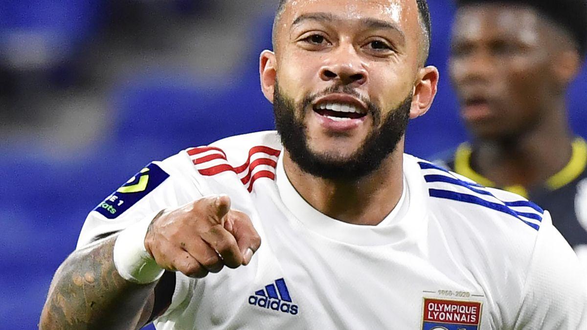 Memphis Depay, l'attaquant de Lyon.