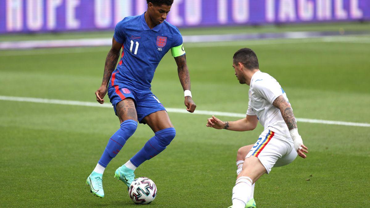 Stanciu, în duel cu Rashford, în Anglia - România 1-0