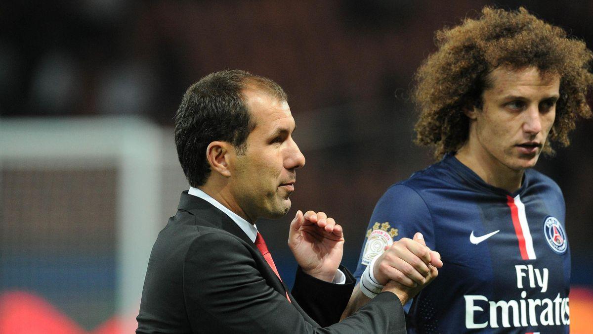 Leonardo Jardim et David Luiz lors de PSG-Monaco.