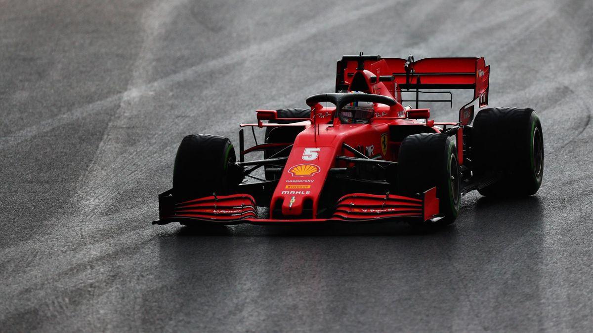 Sebastian Vettel (Ferrari) lors de la qualification du Grand Prix de Turquie, le 14 novembre 2020