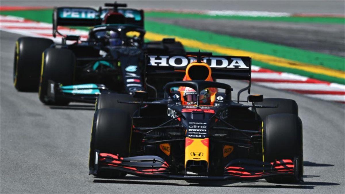 Max Verstappen (Red Bull), Lewis Hamilton (Mercedes) - GP of Spain 2021