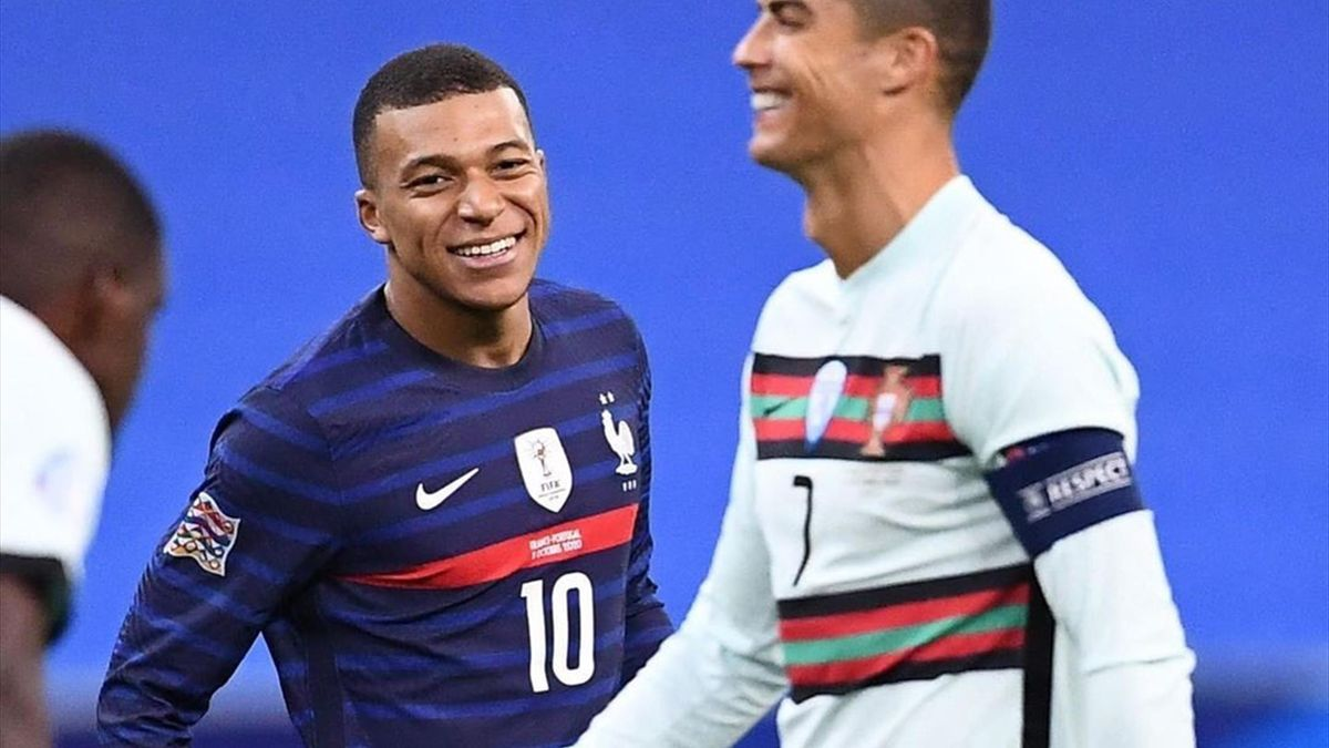 Cristiano Ronaldo și Kylian Mbappe, în Franța - Portugalia 0-0, din Liga Națiunilor