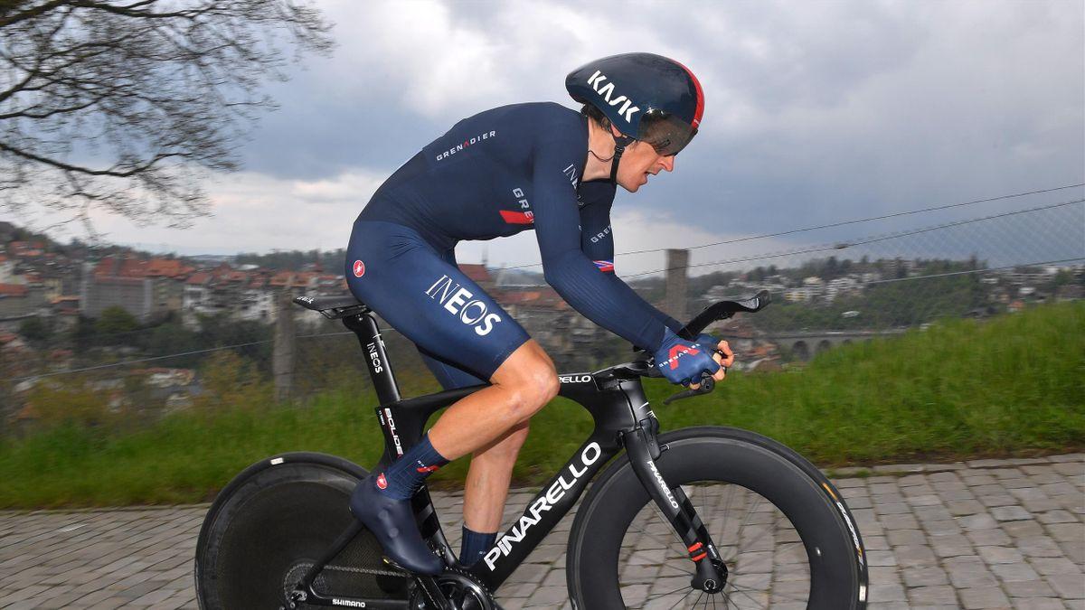 Geraint Thomas (Ineos - Grenadiers) lors du contre-la-montre individuel (5e étape) du Tour de Romandie 2021