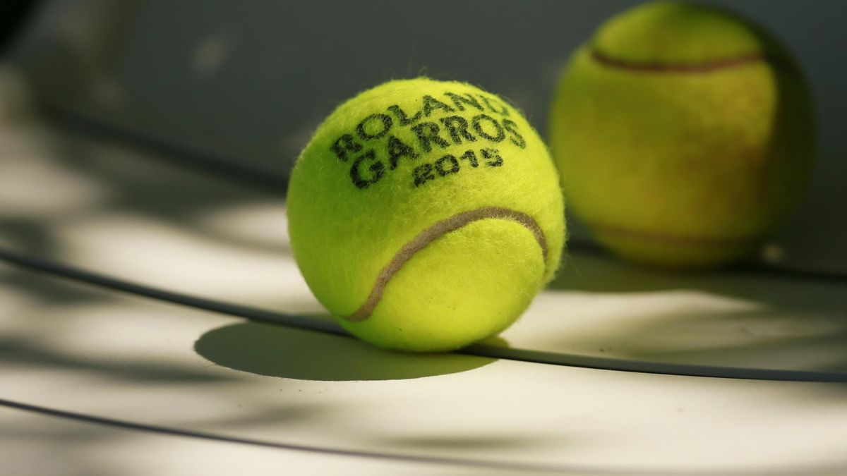 General view of a tennis ball