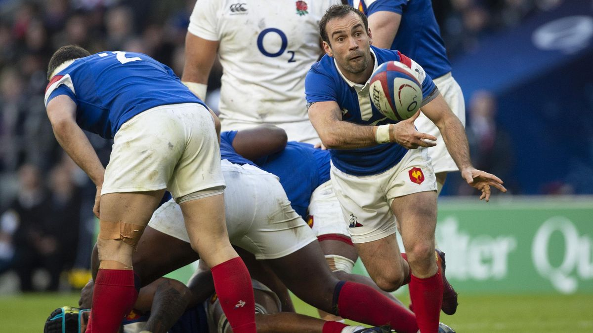 MORGAN PARRA of France during the Guinness Six Nations match between England and France at Twickenham Stadium on February 10, 2019 in London, England.