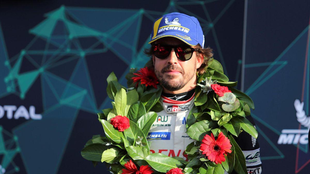 Fernando Alonso, feliz tras ganar en las 6 Horas de Silverstone