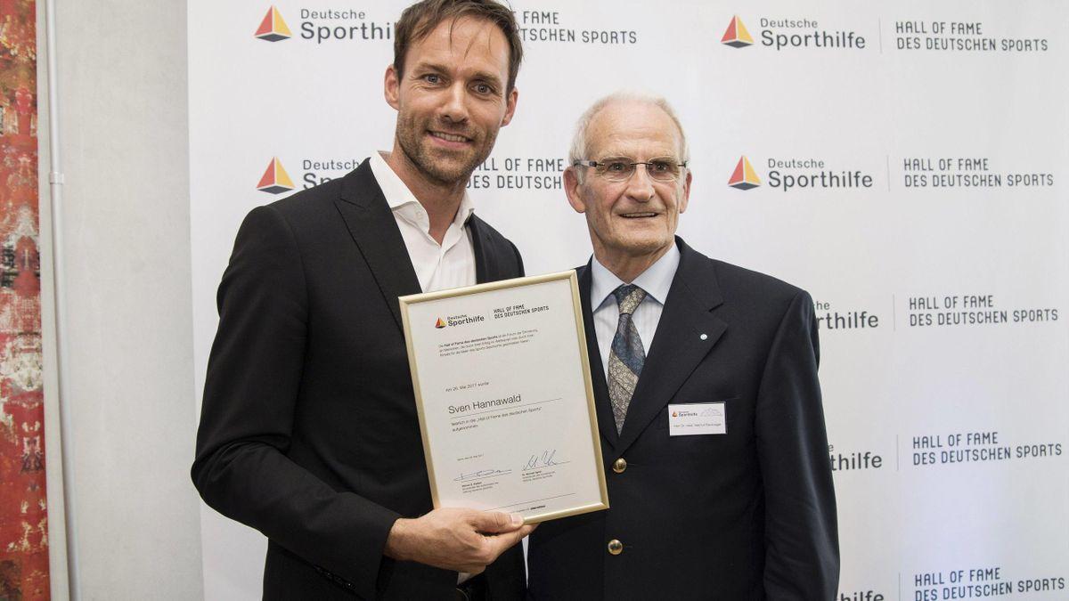 Helmut Recknagel mit Eurosport-Experte Sven Hannawald