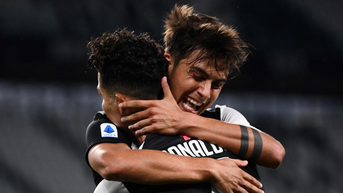 Juventus-Lazio, Serie A 2019-2020: esultanza Paulo Dybala - Cristiano Ronaldo (Getty Images)