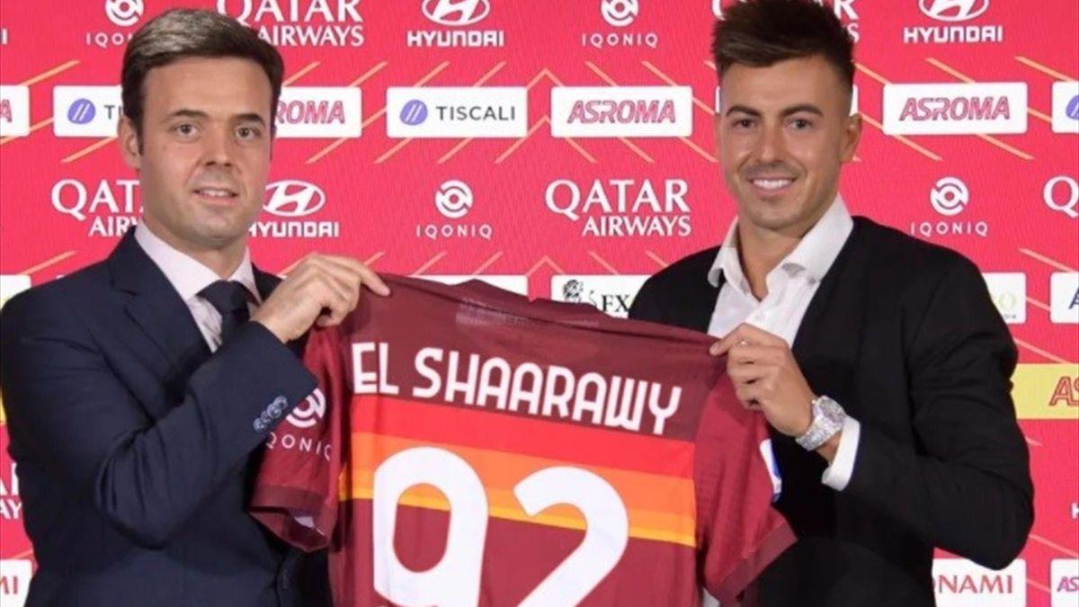 El Sharaawy alla presentazione con la Roma - Serie A 2020/2021 - foto credit: sito asroma.com