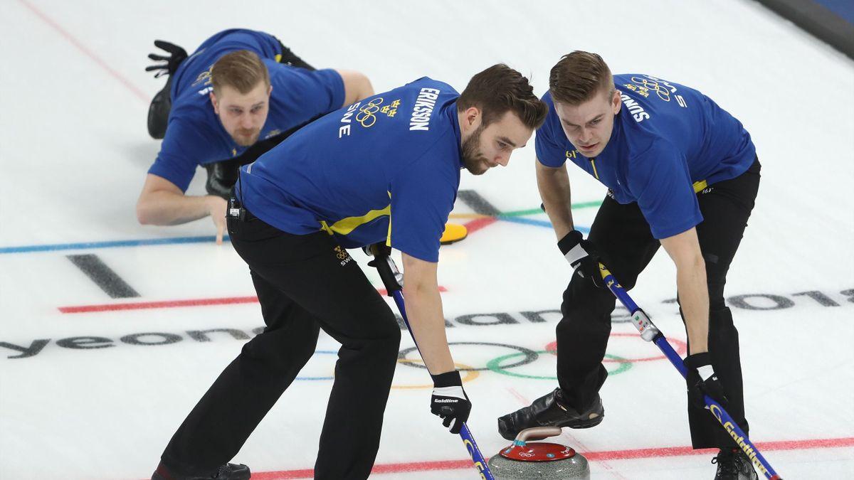 Schweden als erstes Team im Curling-Halbfinale