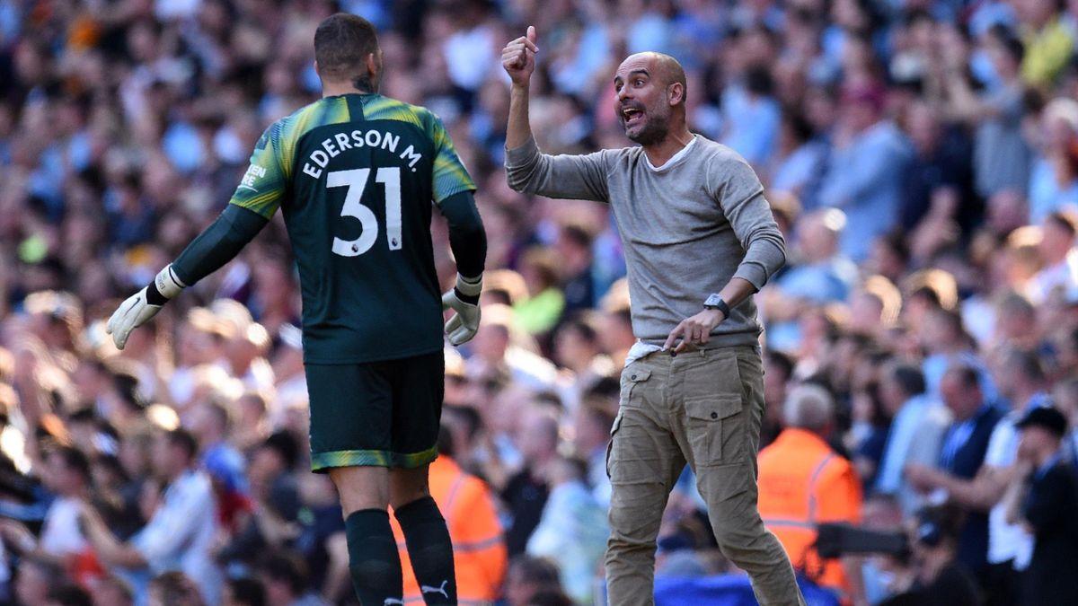 Pep Guardiola, Ederson, Getty Images