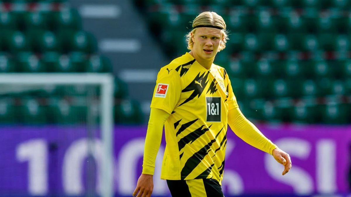 Erling Haaland con la maglia del Borussia Dortmund - Stagione 2020-21
