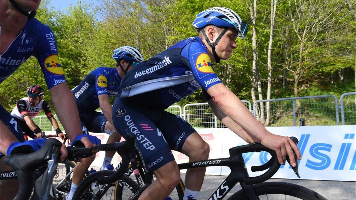 Evenepoel all'arrivo di Sega di Ala - Giro d'Italia 2021