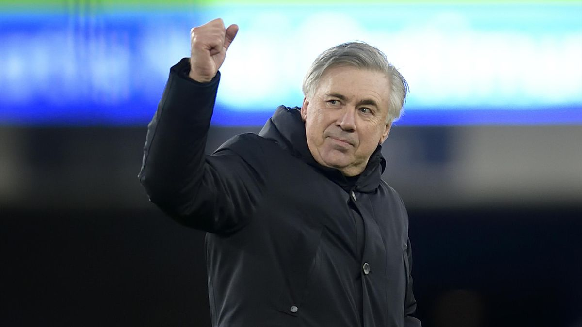 Carlo Ancelotti of Everton after the Premier League match between Everton and Arsenal at Goodison Park on December 19 2020 in Liverpool, England.