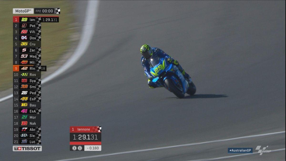 Australian GP - MotoGP - FP2 Best lap Iannonne