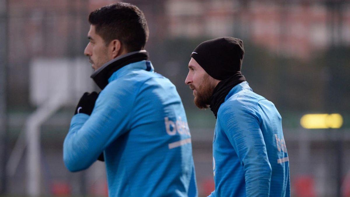 Leo Messi și Luis Suarez