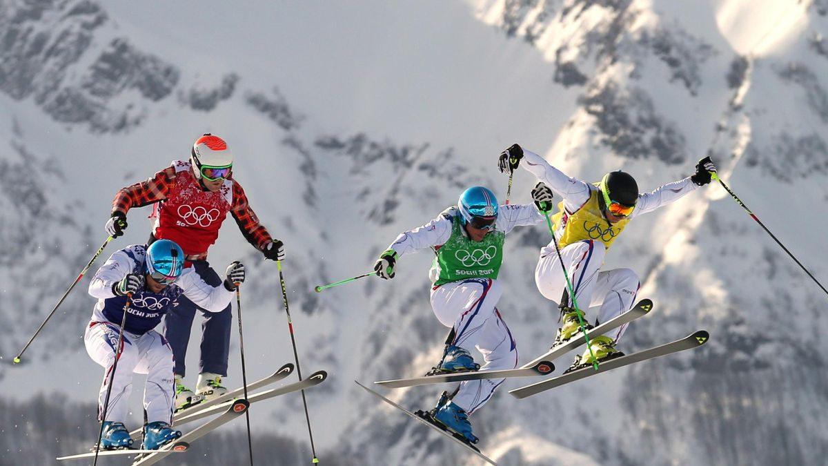 Arnaud BOVOLENTA (FRA) - Brady LEMAN (CAN) - Jean Frederic CHAPUIS (FRA) - Jonathan MIDOL (FRA), Sotchi 2014, skicross