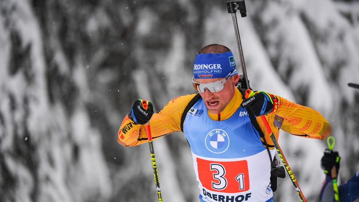 Erik Lesser ist Startläufer der deutschen Mixed-Staffel bei der WM auf der Pokljuka