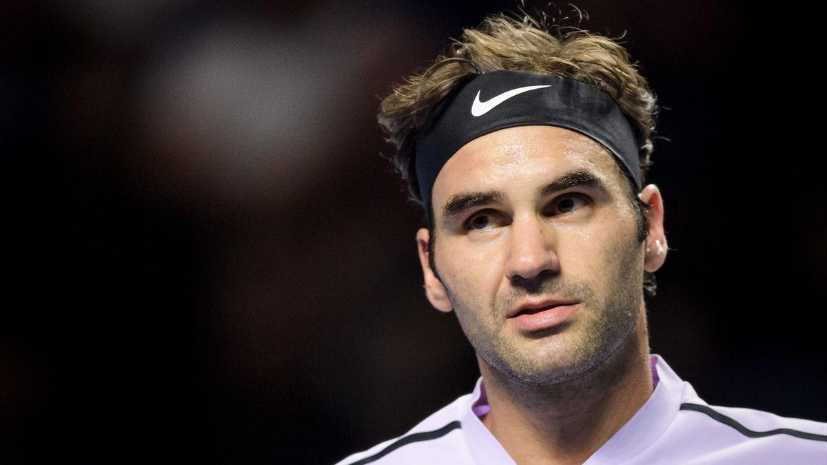 Roger Federer à Bâle lors de son quart contre Adrian Mannarino