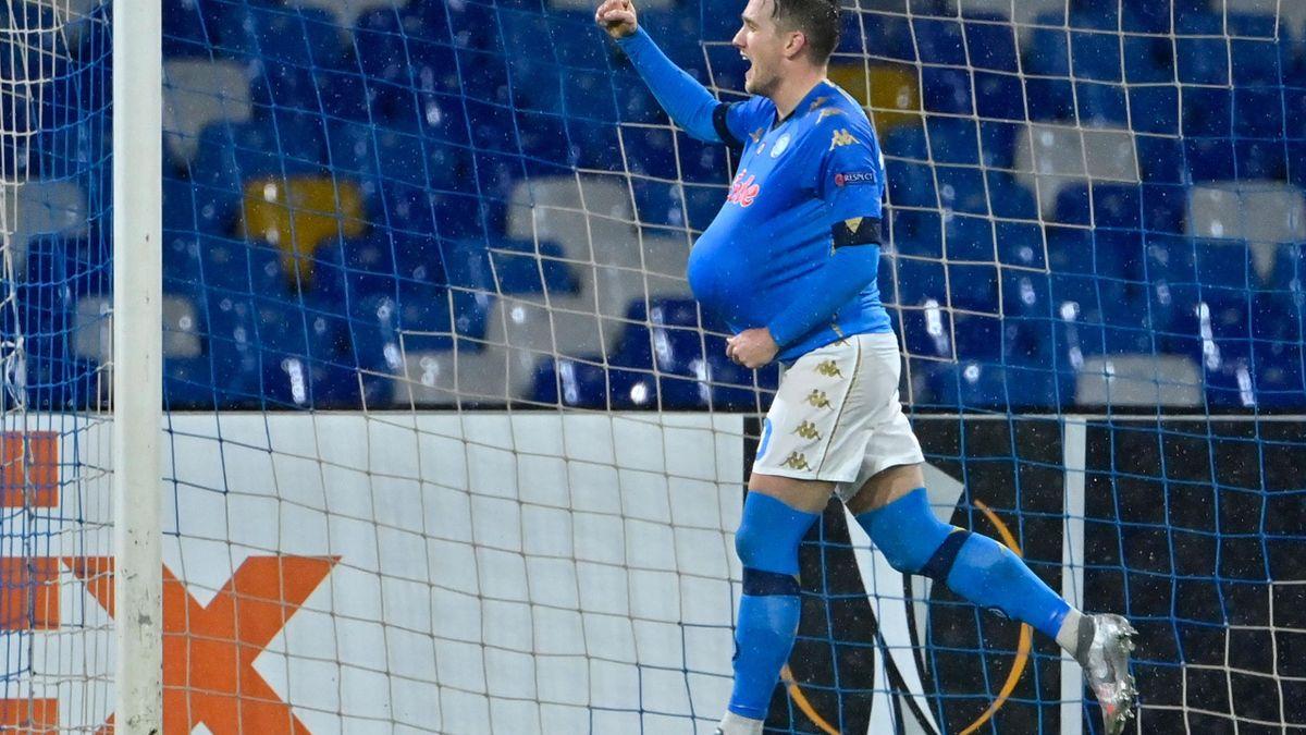 L'esultanza di Zielinski, Napoli-Real Sociedad