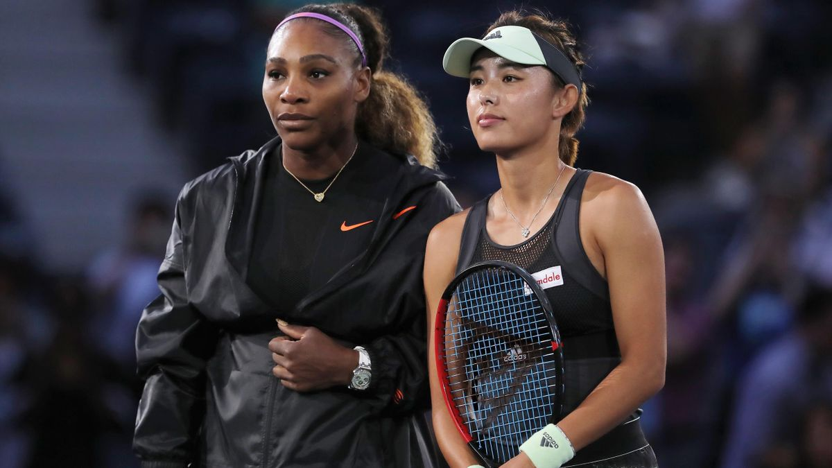 Serena Williams et Qiang Wang.