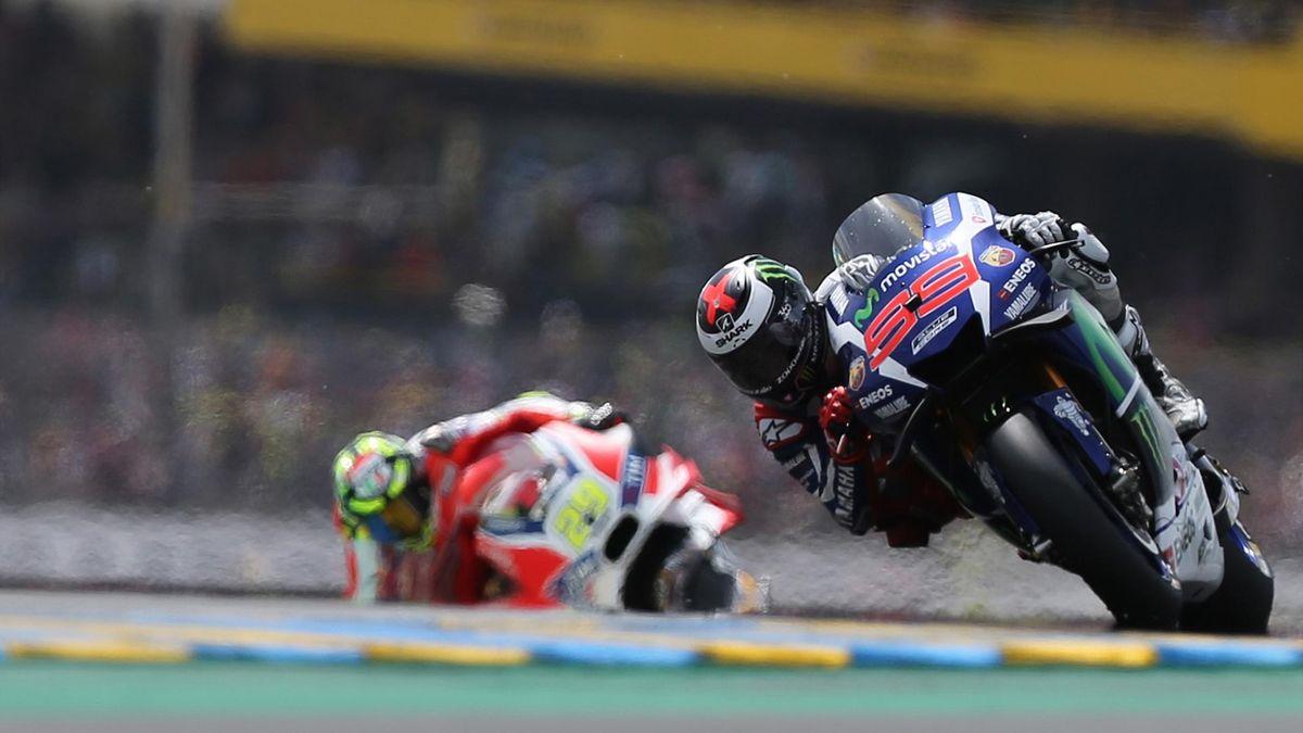Jorge Lorenzo (Yamaha) lors du Grand Prix de France au Mans