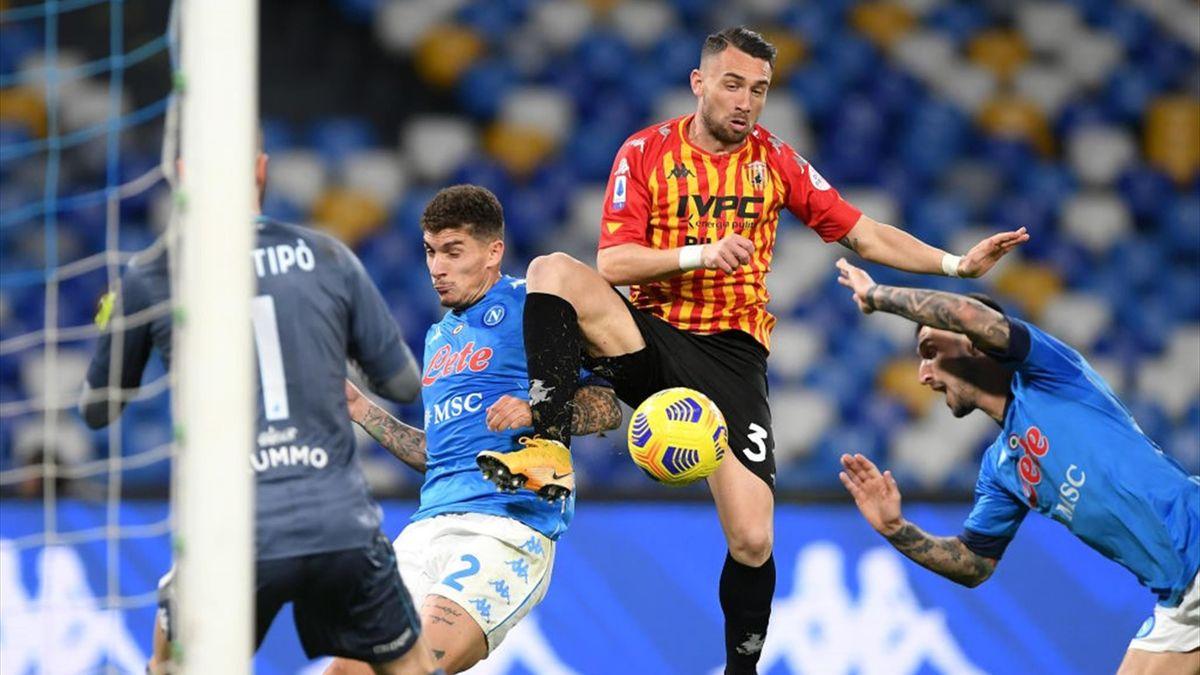 Il gol del 2-0 del Napoli - Napoli-Benevento Serie A 2020-21