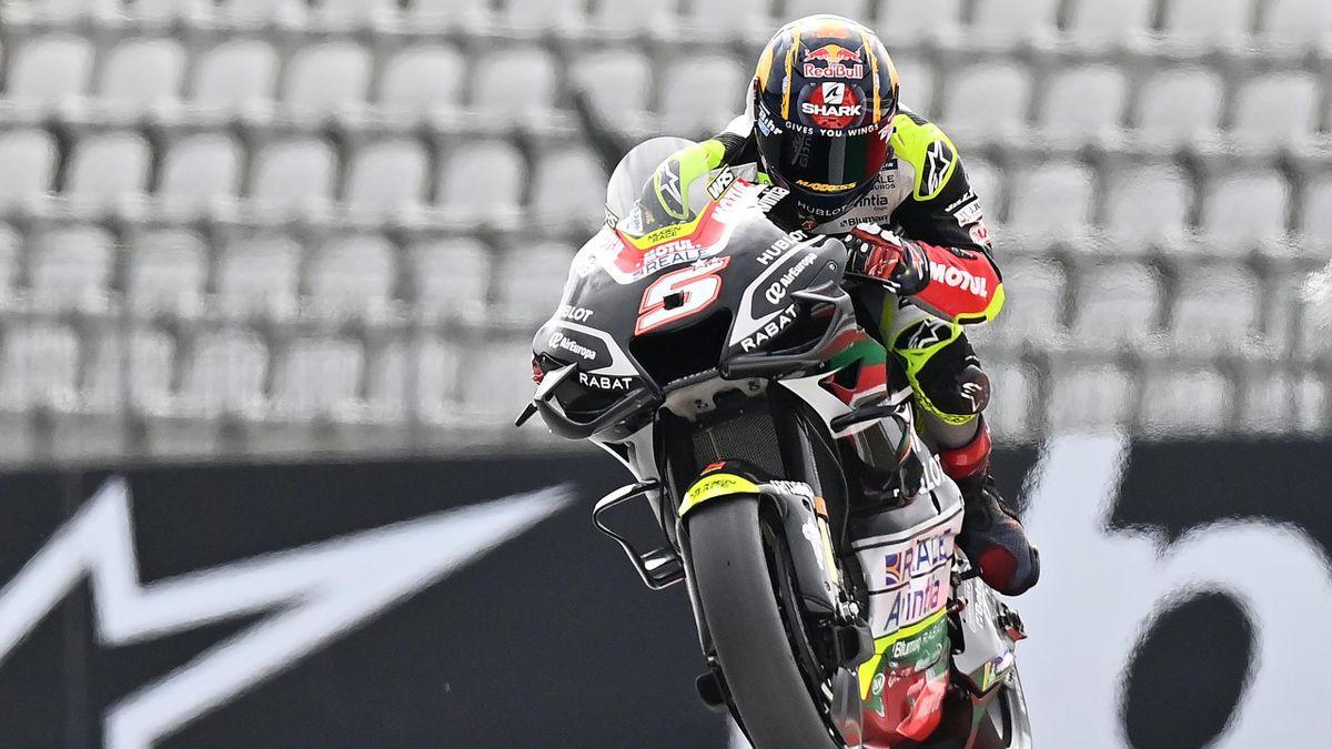 Johann Zarco (Ducati Avintia) lors des essais du Grand Prix d'Autriche, le 14 août 2020
