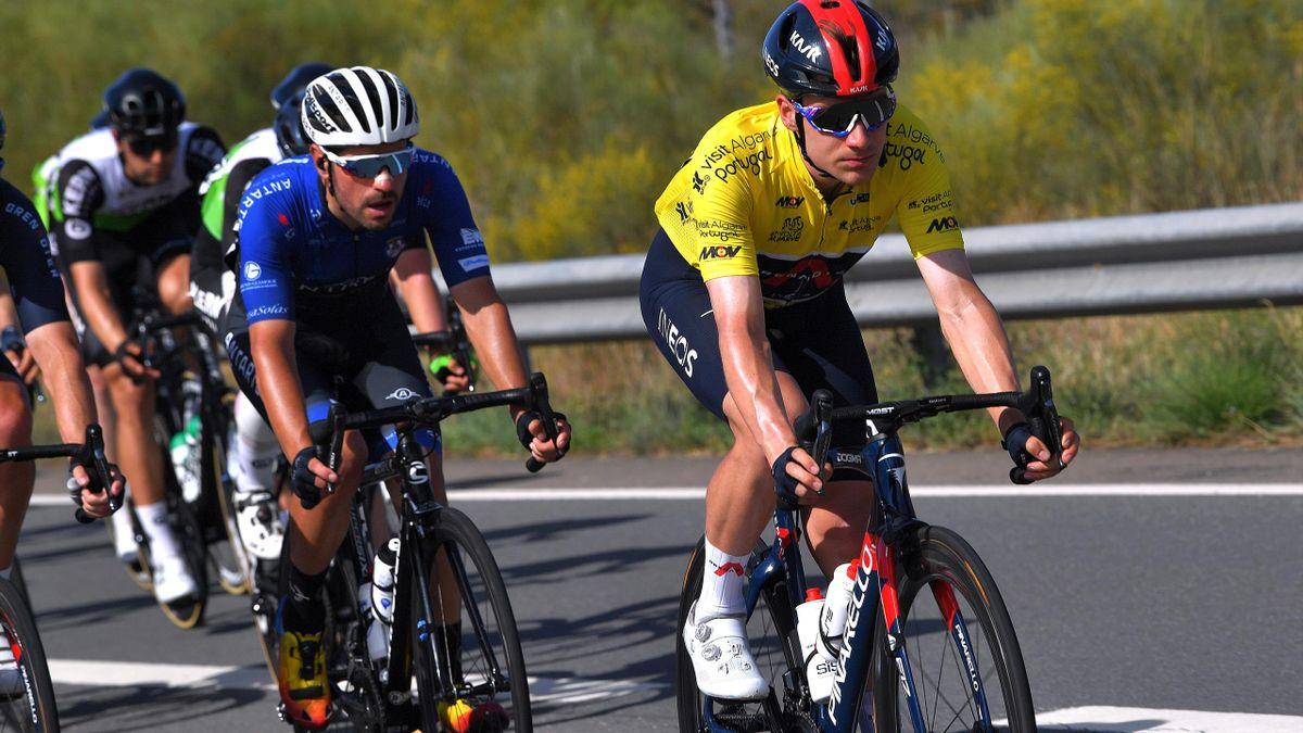 Ethan Hayter musste auf der letzten Etappe der Algarve-Rundfahrt sein Gelbes Trikot noch abgeben