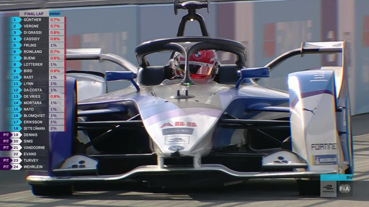 The finish to New York City ePrix as Guenther takes Race 1 victory