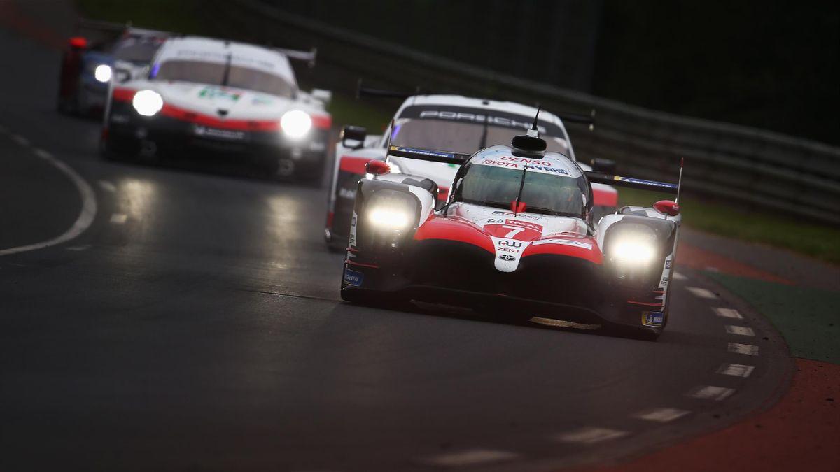 Toyota-Fahrer Kamui Kobayashi bei den 24h von Le Mans