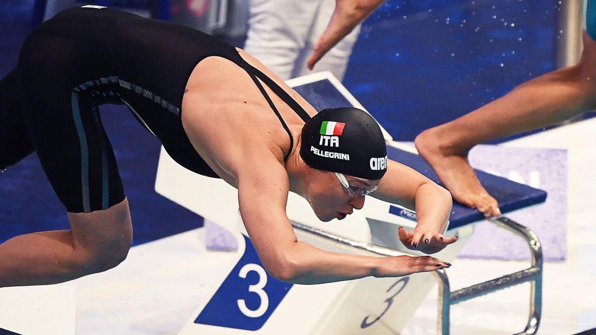 Federica Pellegrini agli Europei di Nuoto
