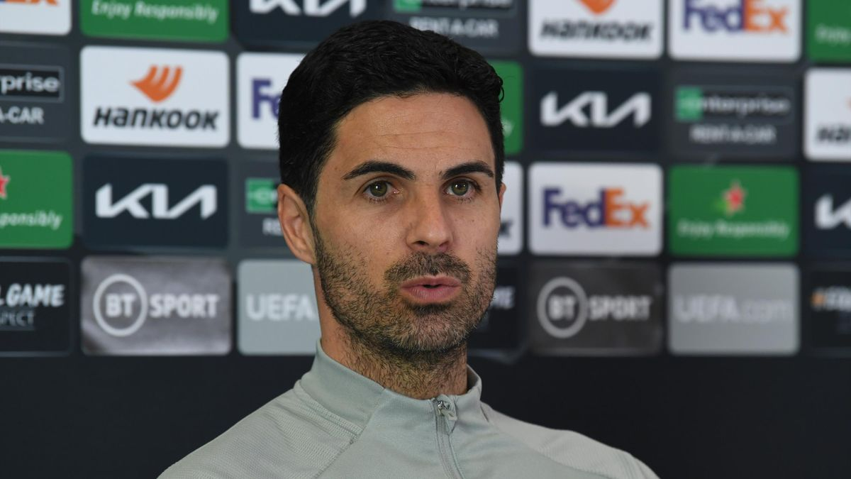 Arsenal manager Mikel Arteta says he is not contemplating the possibility of not qualifying for Europe