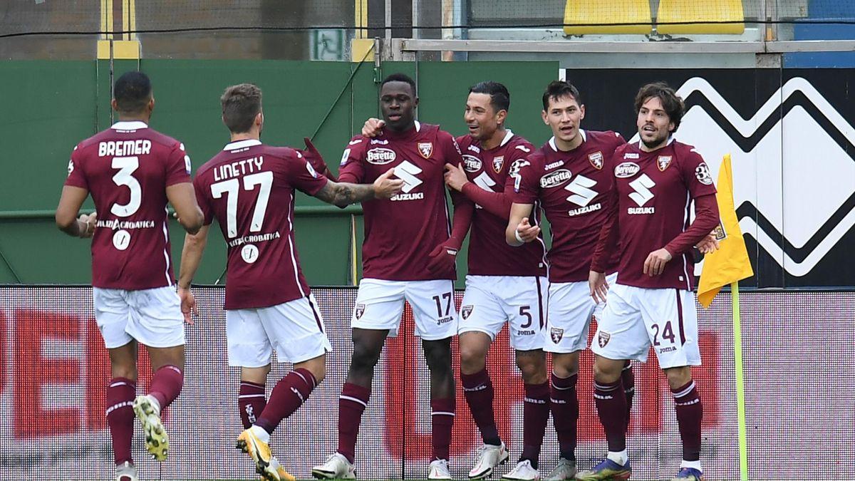 Parma-Torino, Singo segna lo 0-1