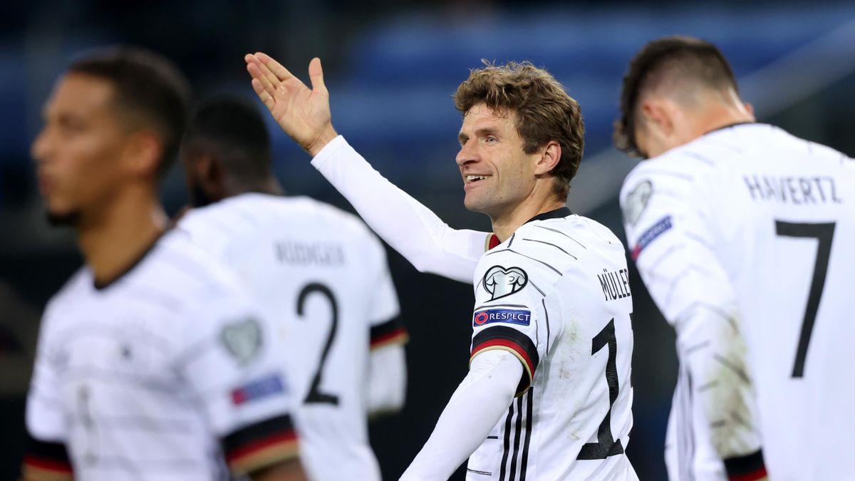 Thomas Müller beim 2:1 gegen Rumänien