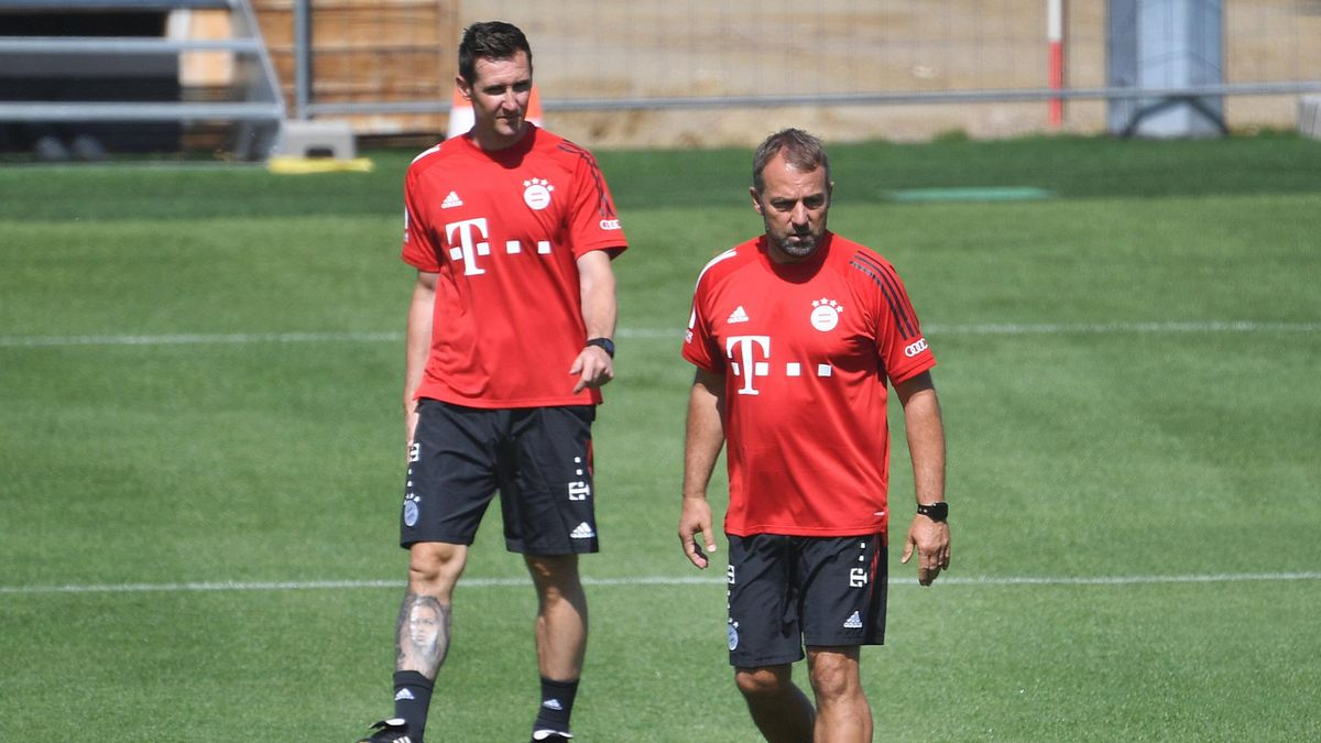 Hans-Dieter Flick, Miroslav Klose - Bayern Monaco - training 2020 - Imago