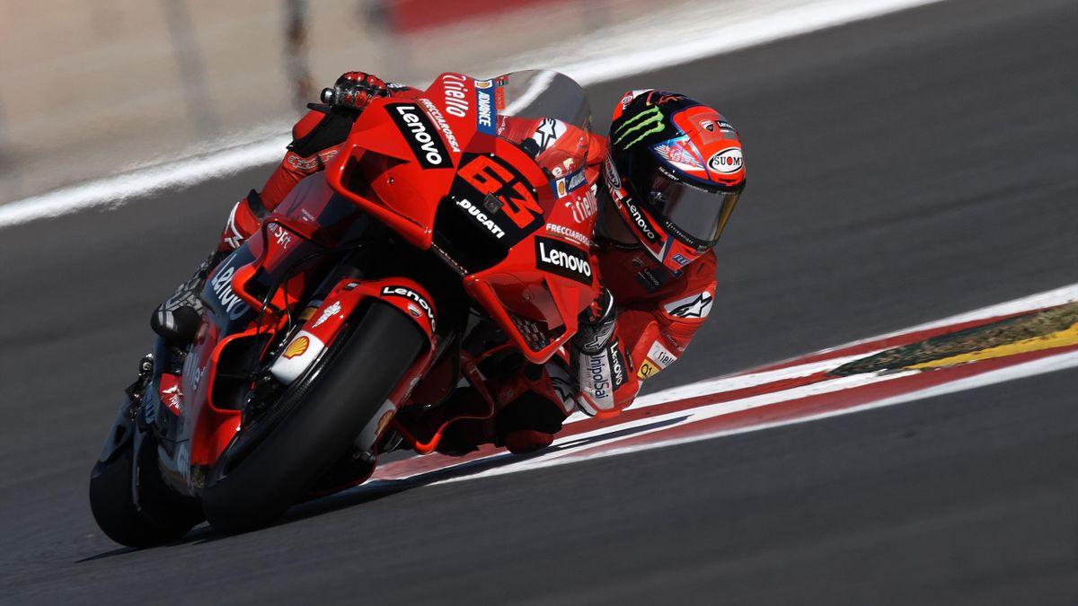 Francesco Bagnaia (63) of Italy and Ducati Lenovo Team Ducati during the qualifying of Grande Premio 888