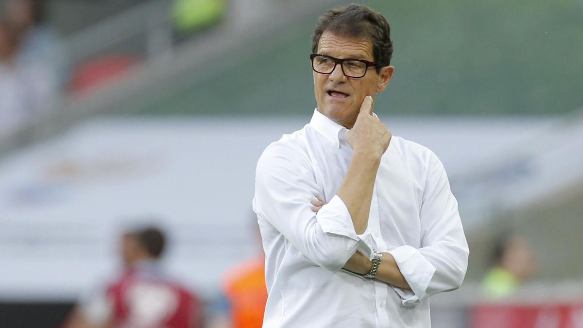 Russia's coach Fabio Capello watches his team's Euro 2016 Group G qualifying soccer match against Austria at the Otkrytie Arena stadium in Moscow, Russia, June 14, 2015