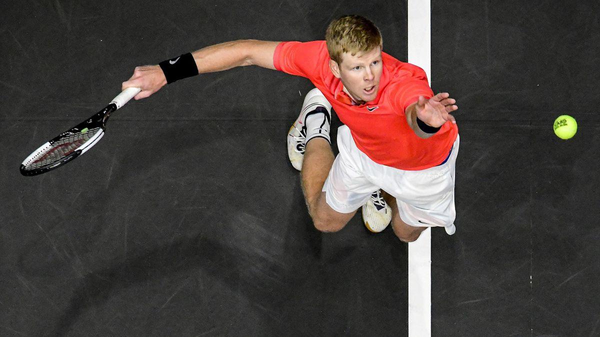 Kyle Edmund, lors du tournoi ATP 250 de New York - 15/02/2020