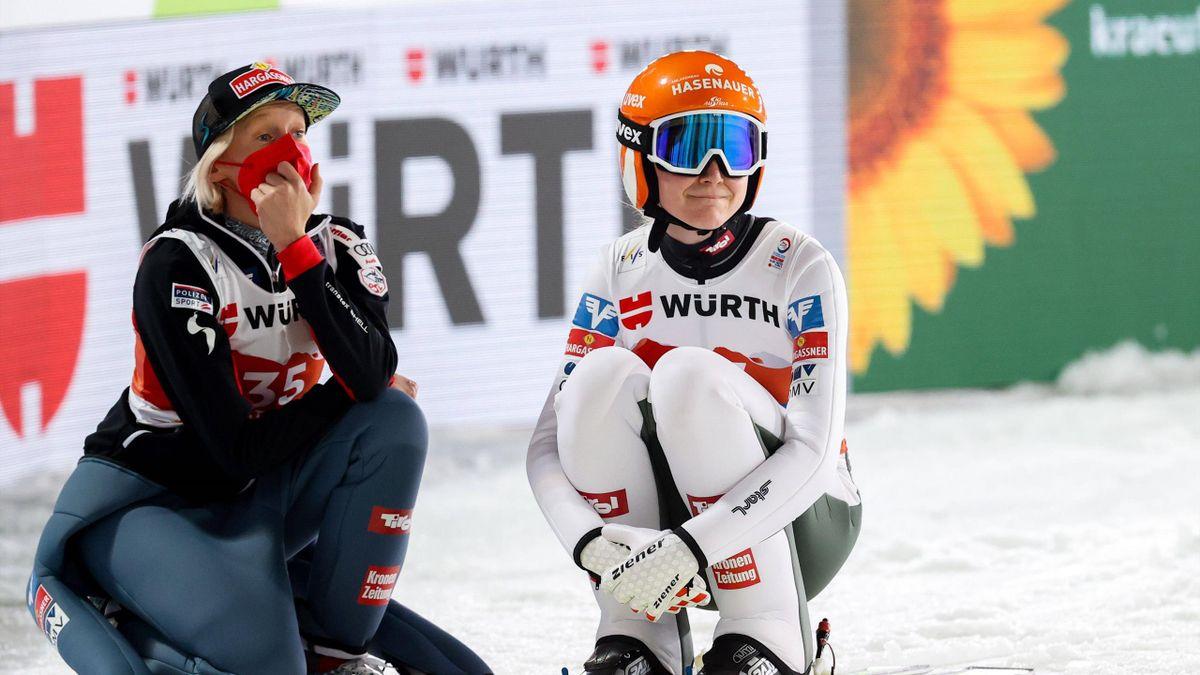 Marita Kramer bei der Nordischen Ski-WM 2021 in Oberstdorf