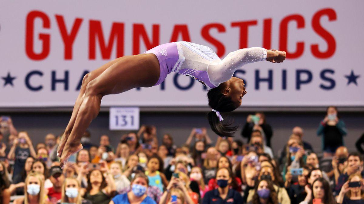 Simone Biles straripante agli US Championships