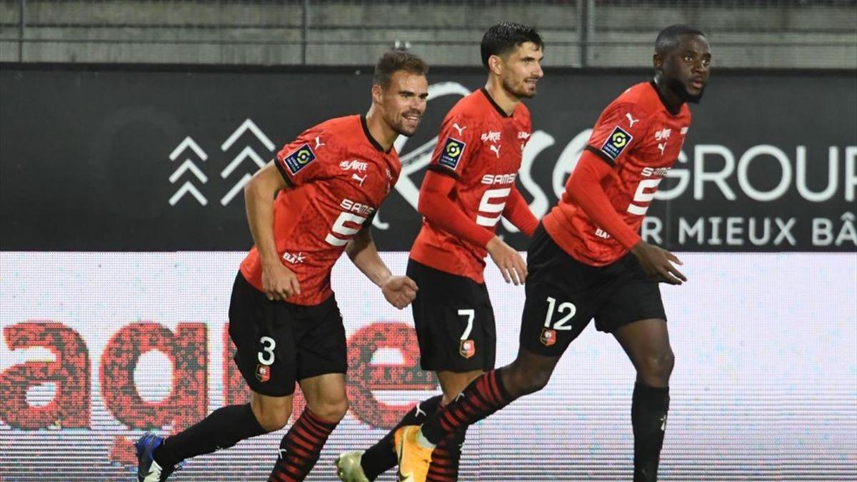 Damien Da Silva, buteur pour Rennes en Ligue 1 face à Brest