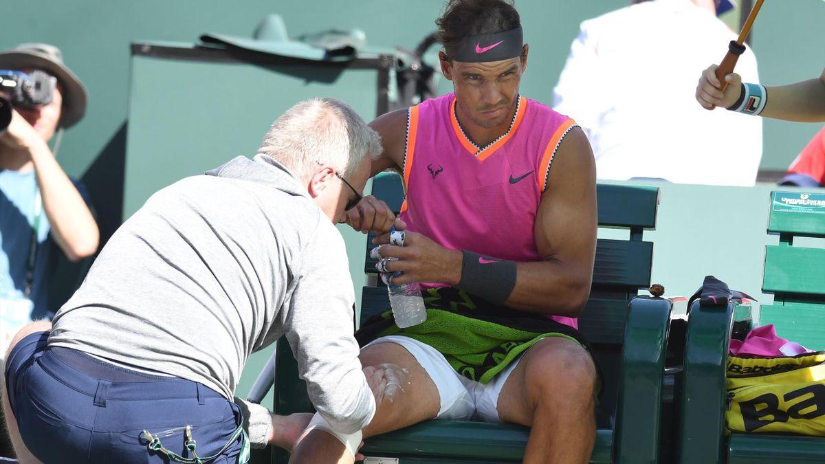 Rafael Nadal souffre du genou droit.