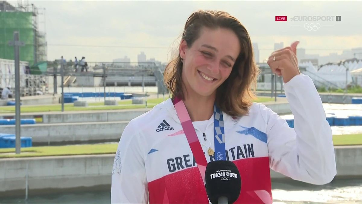 'I'm just going to get fat now!' - GB's Franklin on winning slalom silver