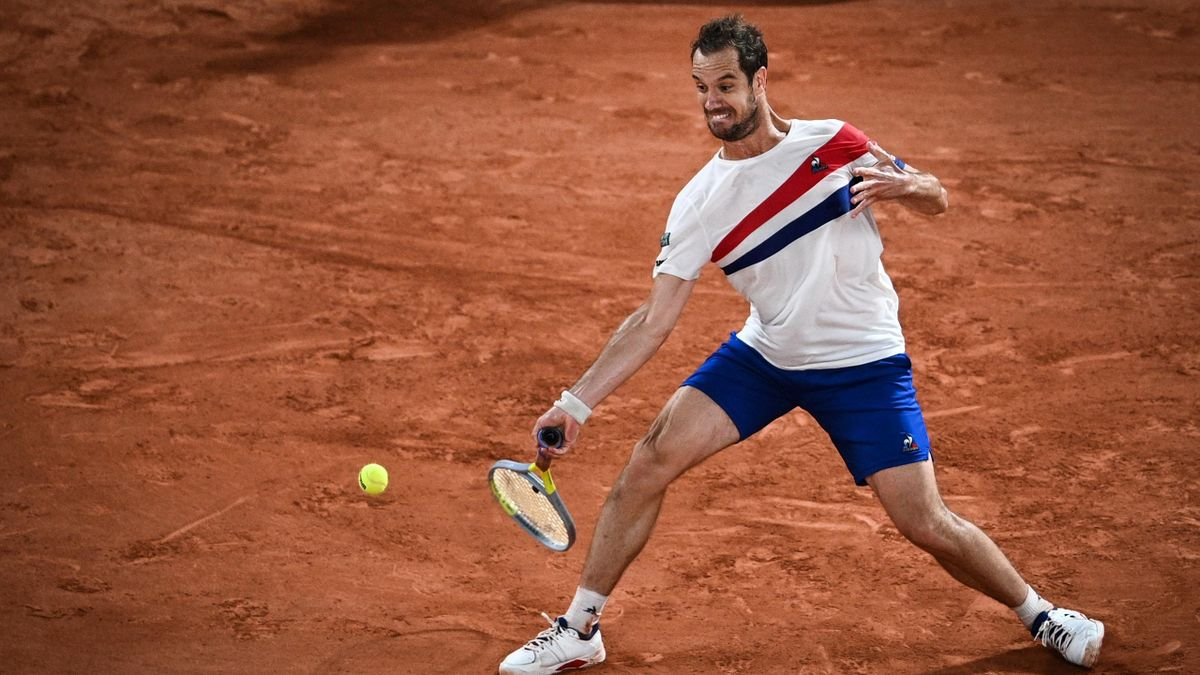 """Richard Gasquet, opposé à Rafael Nadal au 2e tour de Roland-Garros, en """"night session"""" sur le central, le 3 juin 2021"""
