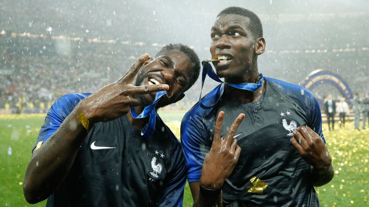 Samuel Umtiti et Paul Pogba / Coupe du monde 2018
