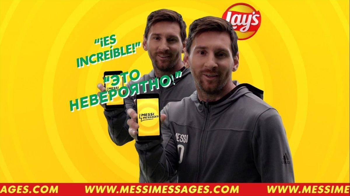 Лионель Месси, «Барселона», Lay's Messi Messages